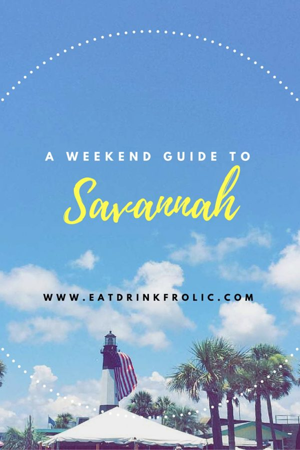Plan a weekend to Savannah. It's close to the beach and has lots of options for eating, drinking and sightseeing.