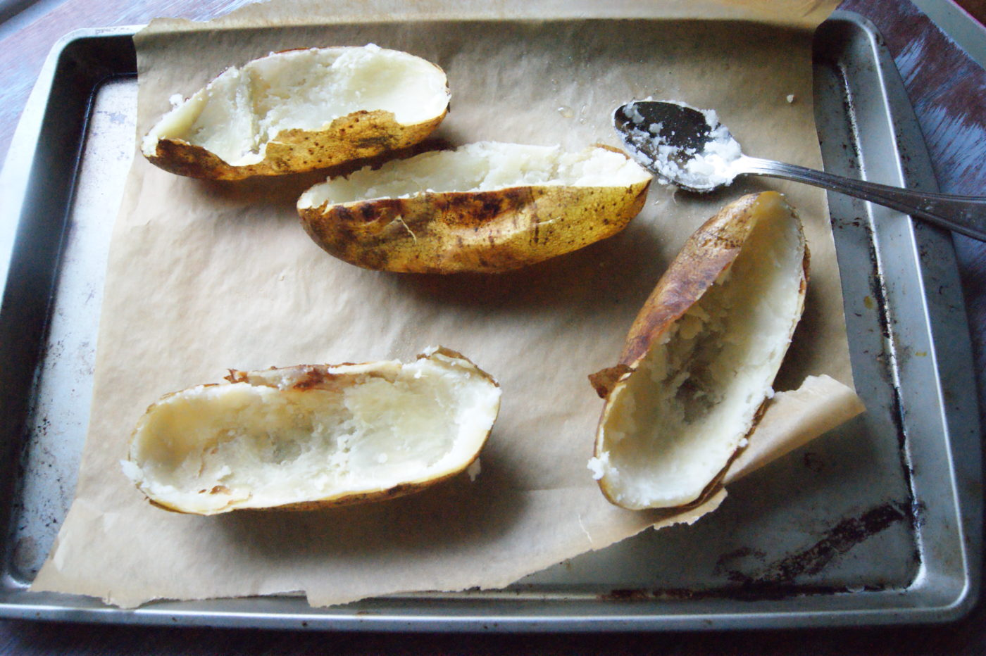 Twice baked potatoes are a perfect side dish.