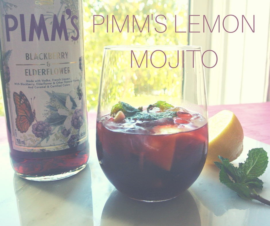 A citrusy mojito made with Pimm's.