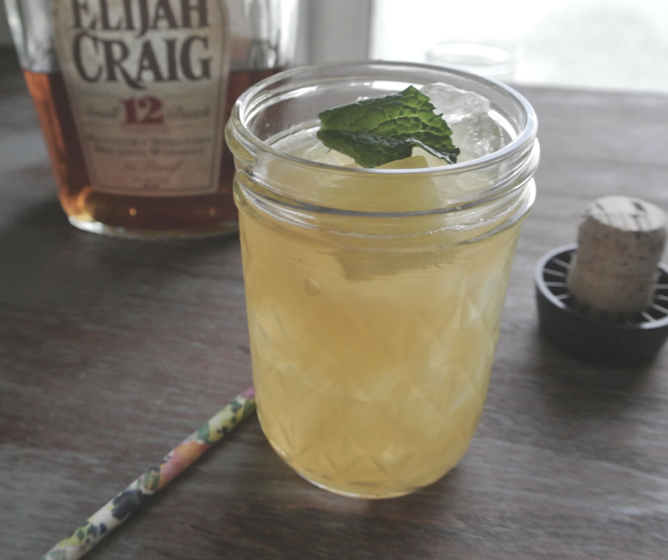 A refreshing bourbon cocktail with Elijah Craig bourbon.