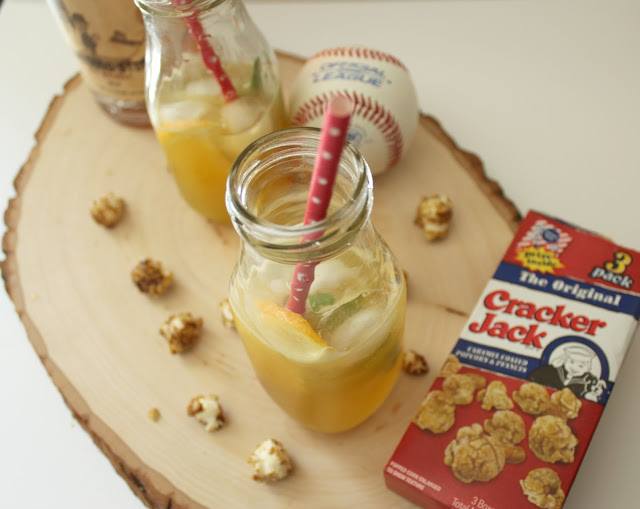 Usually baseball means beer and hot dogs but this easy cocktail can be enjoyed during baseball season and is perfect for those who don't enjoy beer (or maybe you do)!