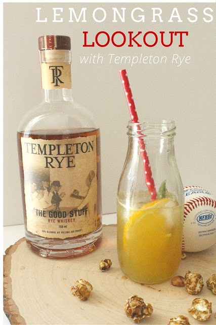 A refreshing cocktail using Templeton Rye inspired by baseball.