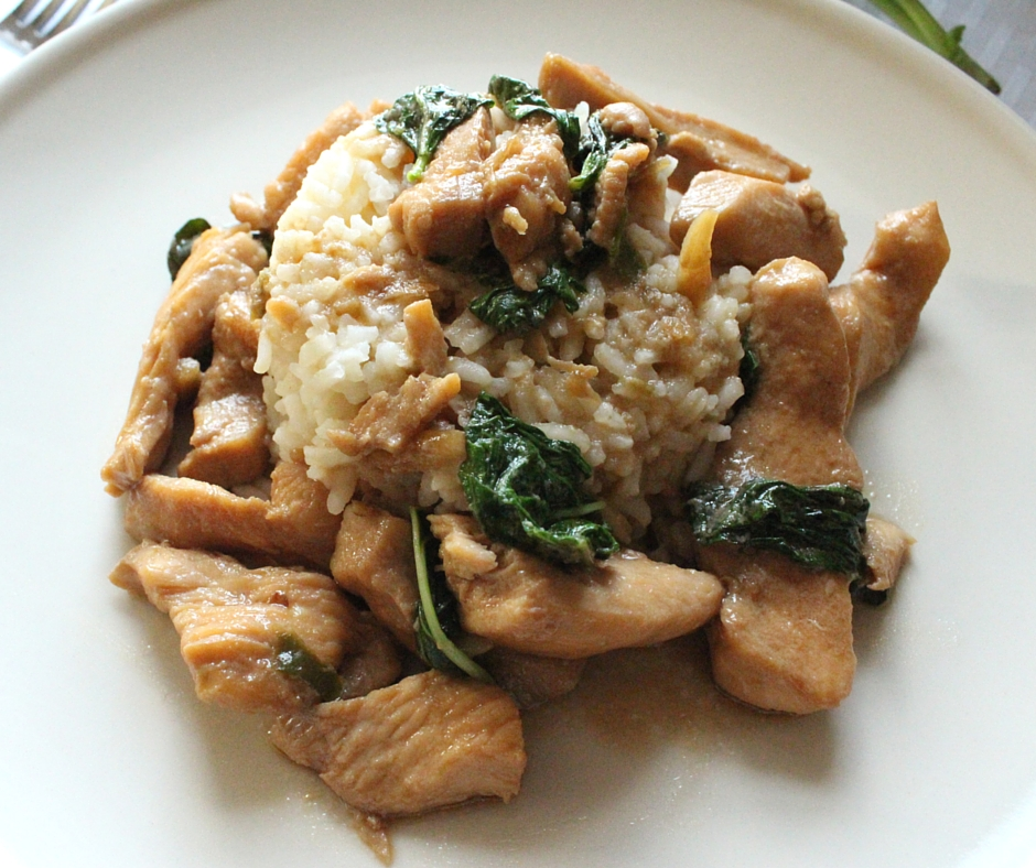 Basil chicken from Cravings Cookbooks
