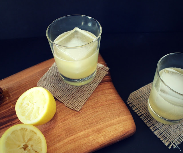 Honey whiskey sours, a sweeter version of the classic whiskey sour.
