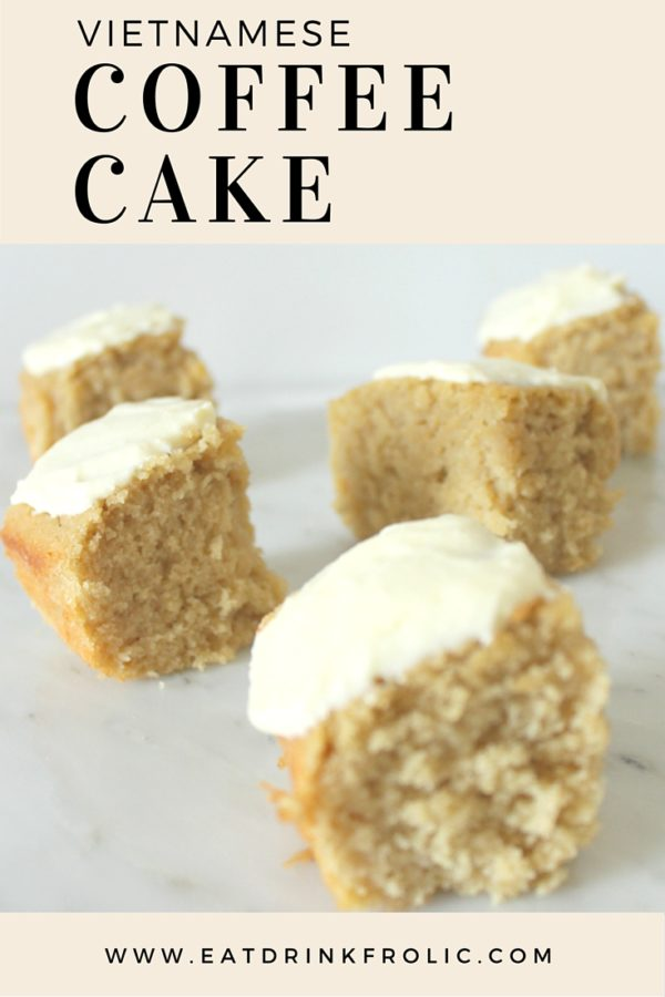 Vietnamese coffee cake is a an easy dessert that takes no time make.