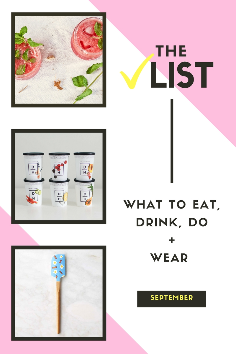 Things to try this month is a mixture of food, drinks and cute dresses. Get on it.