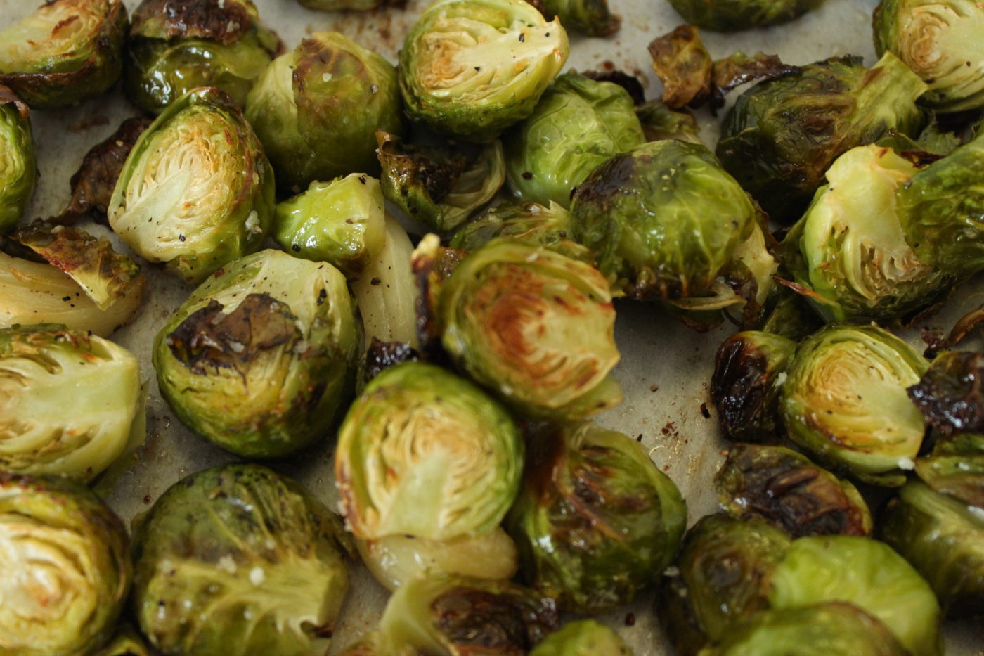 Roasting Brussels sprouts with olive oil, salt, pepper and garlic is the best way to prepare them.