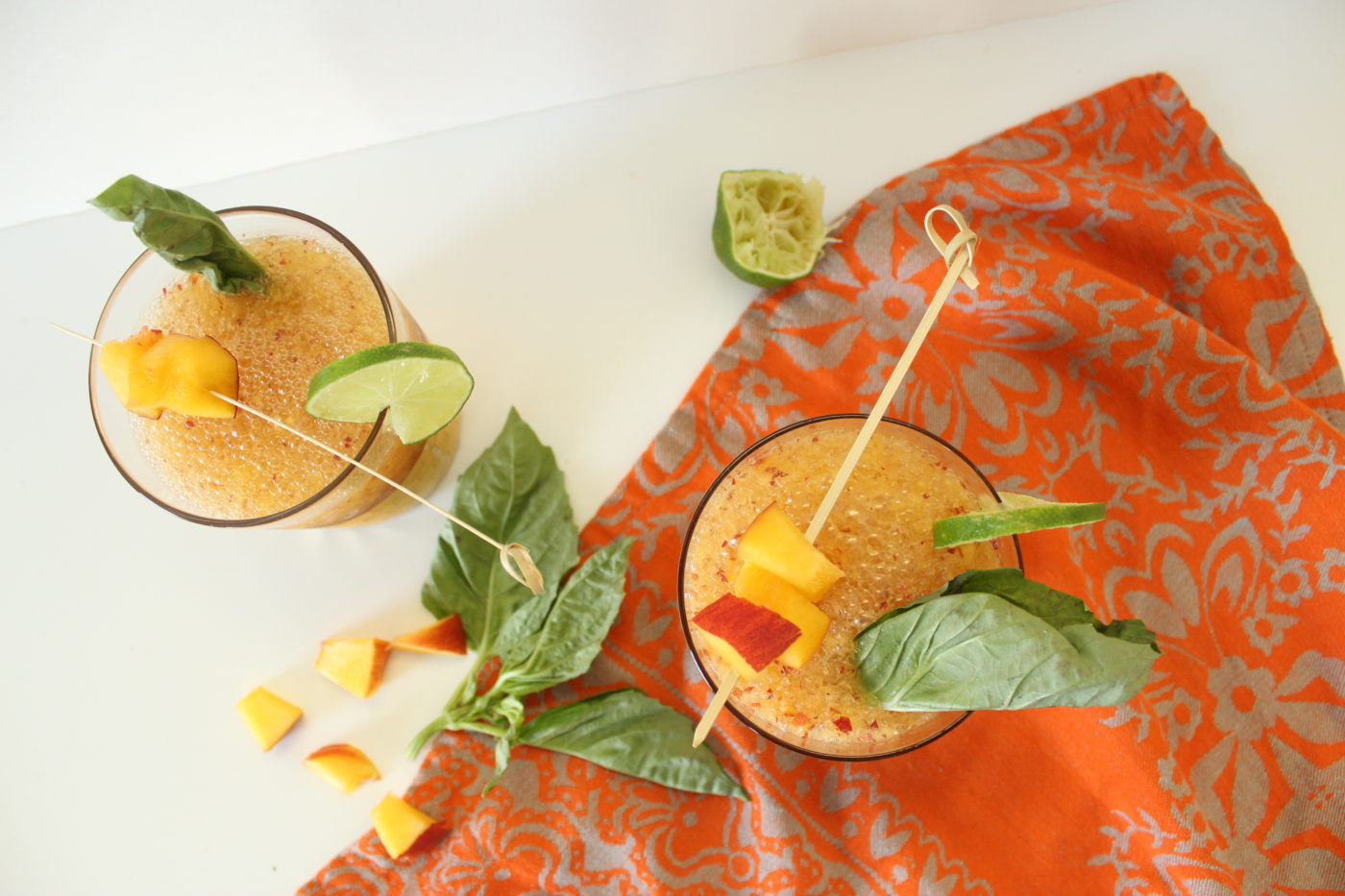 A frozen adult beverage on a warm day is one of the best treats. This frozen peach whiskey mule packs a punch.