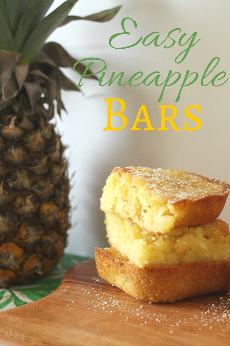 Pineapple bars are one of the easiest and delicious desserts to make. Think lemon bars but more tropical. Do yourself a favor and try them for yourself!