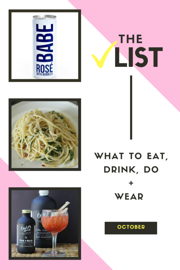 A list of things to try during the month of October. From a lemony pasta to a delicious addition to cocktails - I've got you covered!