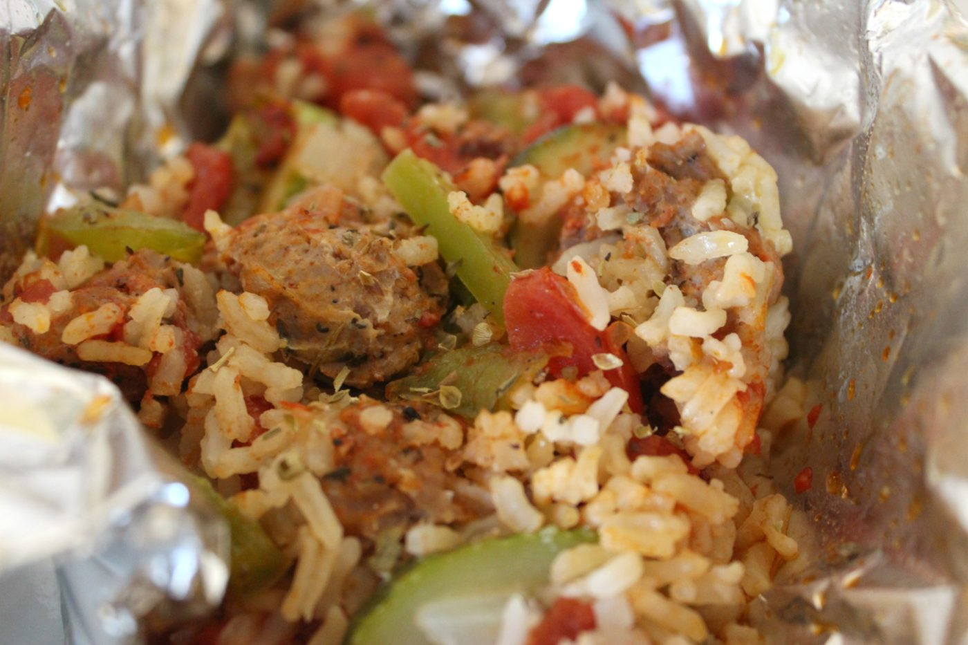 This jambalaya is full of veggies. A vegetarian option with couscous would be delicious too.