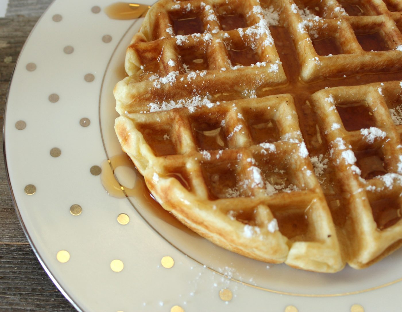 A 4-ingredient waffle recipe is just what the doctor ordered.