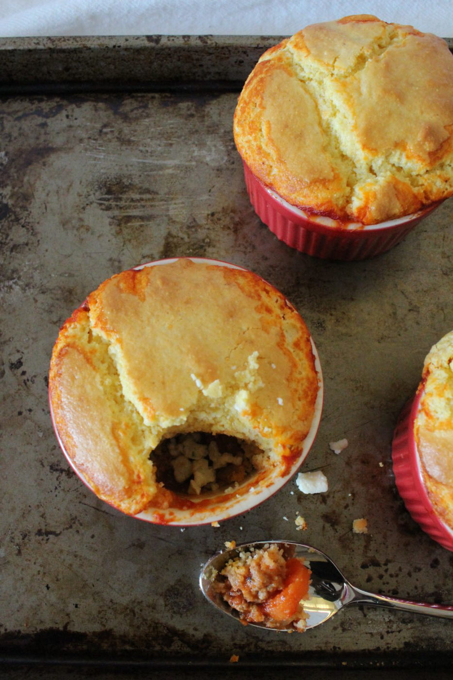 When you break into these delicious pot pies, crumble a little blue cheese inside for optimal flavor.