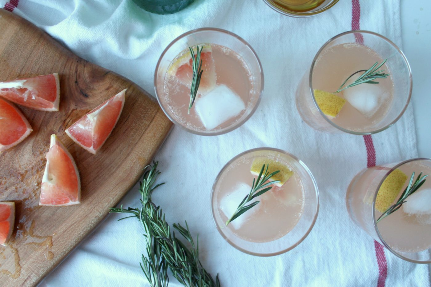 A refreshing citrus mocktail.