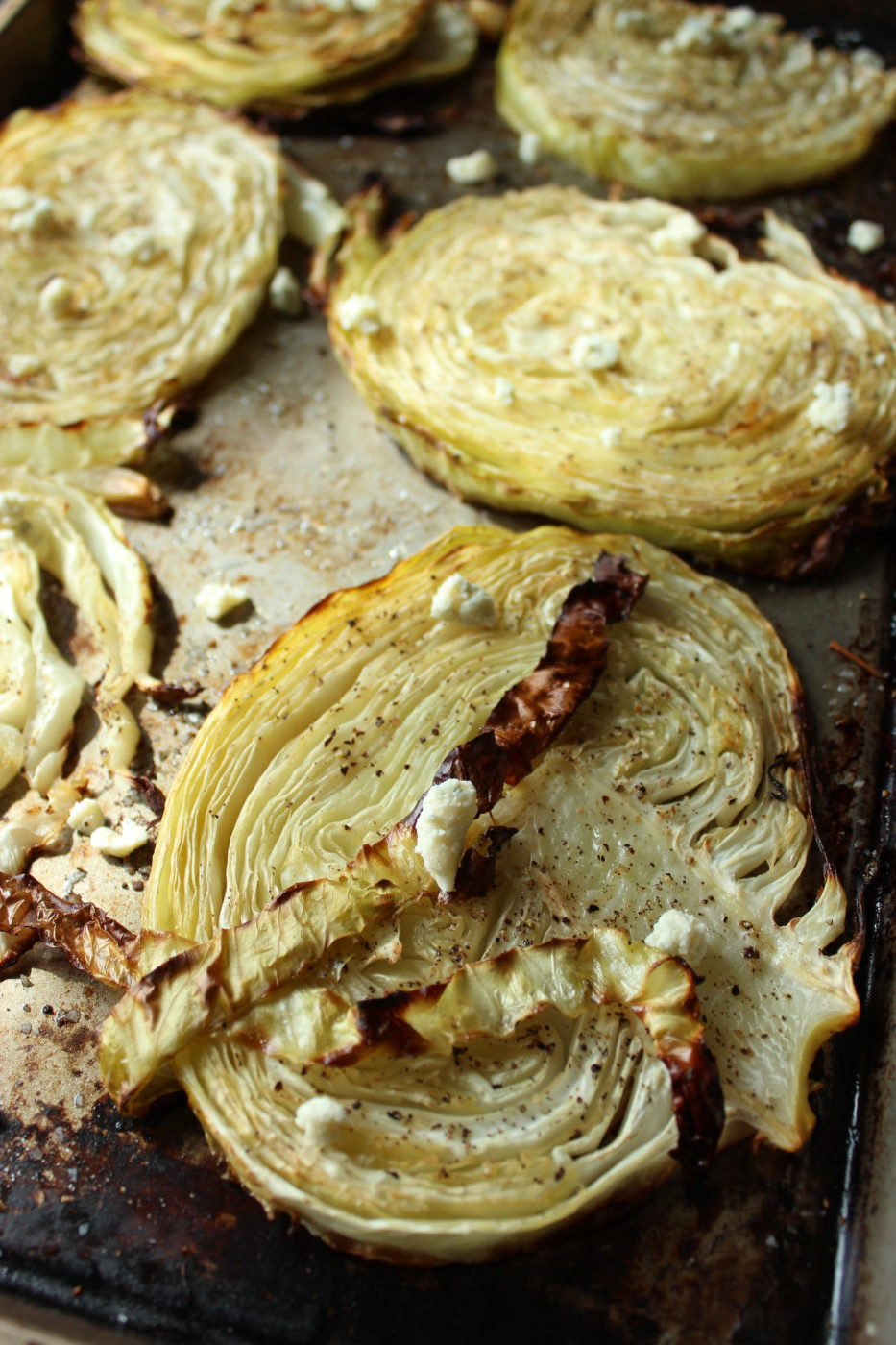 Roasted cabbage a delicious way to enjoy the vegetable.