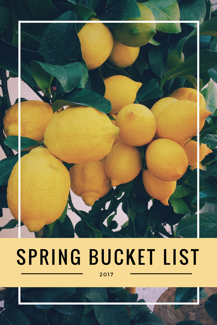It's the first day of spring. Here's my quick and easy bucket list to tackle this season.