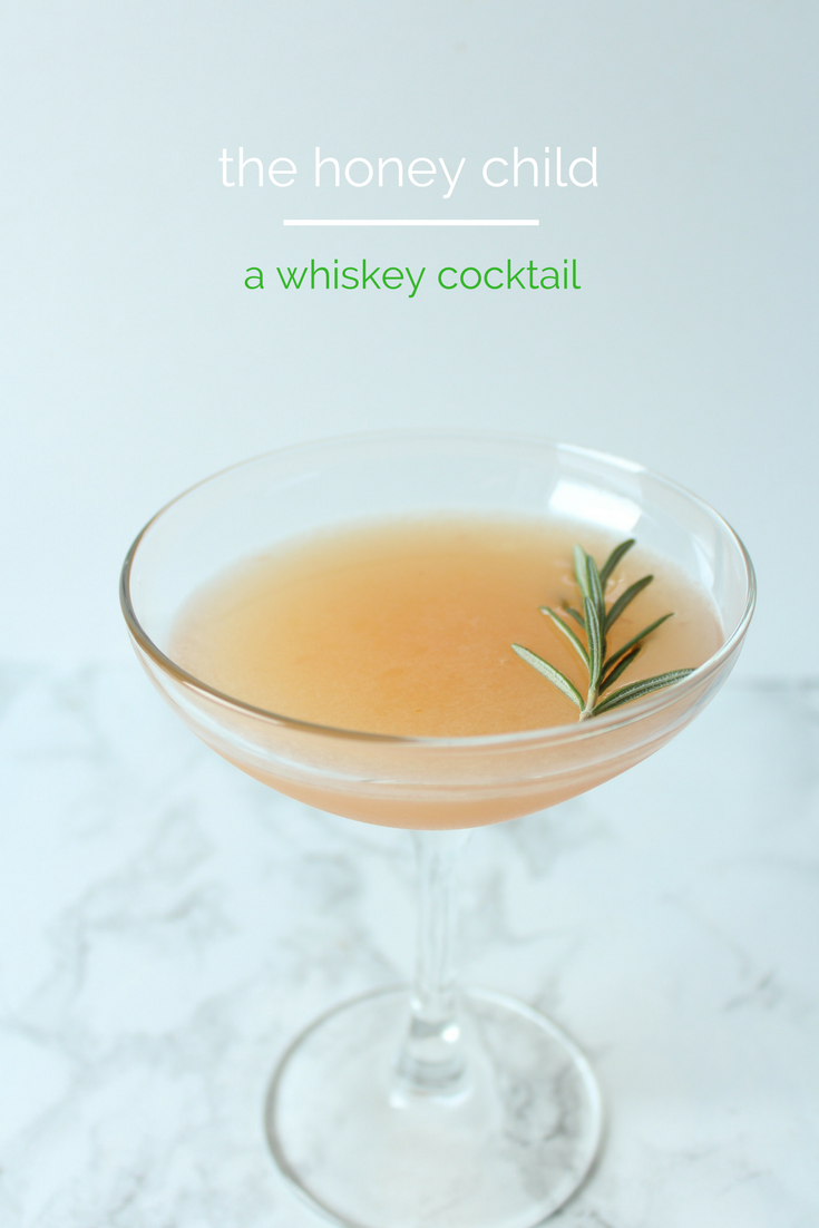 The Honey Child - a refreshing citrus whiskey cocktail.