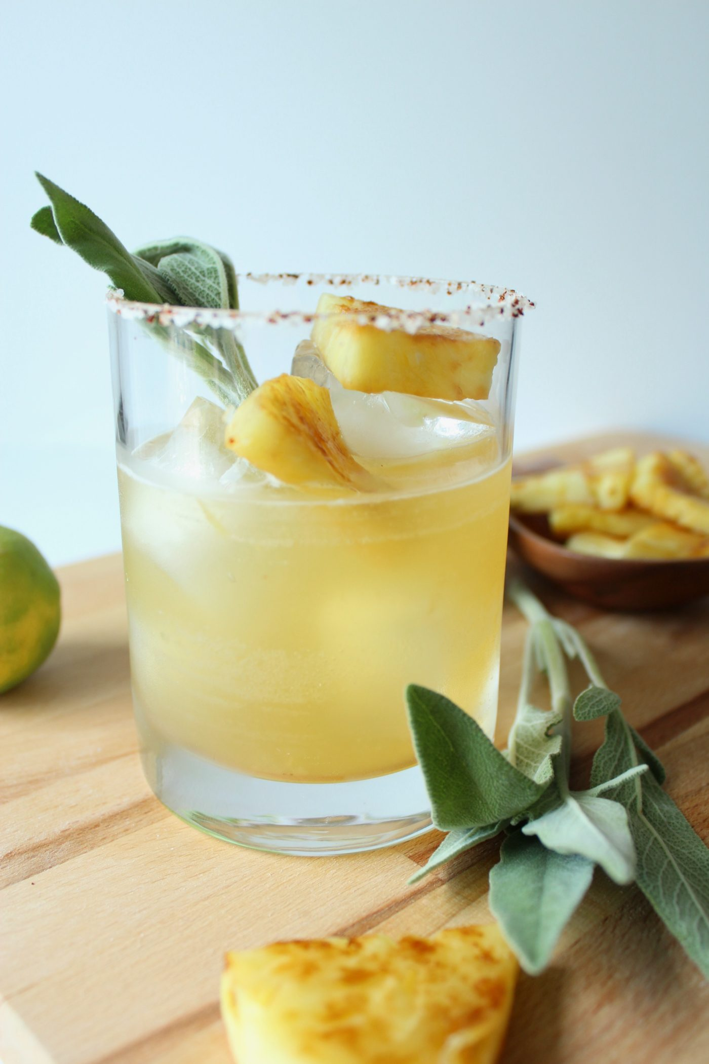 Charred pineapple margaritas with sage | Eat.Drink.Frolic.