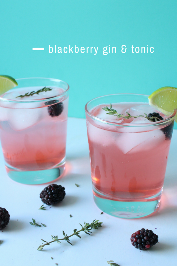Blackberry gin and tonic | Eat.Drink.Frolic.
