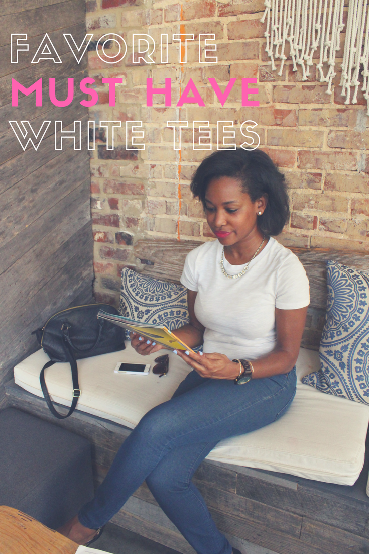 A roundup of my favorite must have white tees.