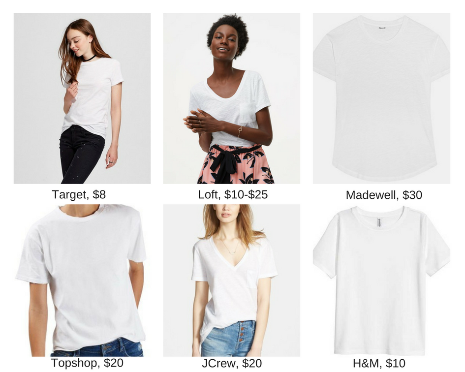 My must have white tees.