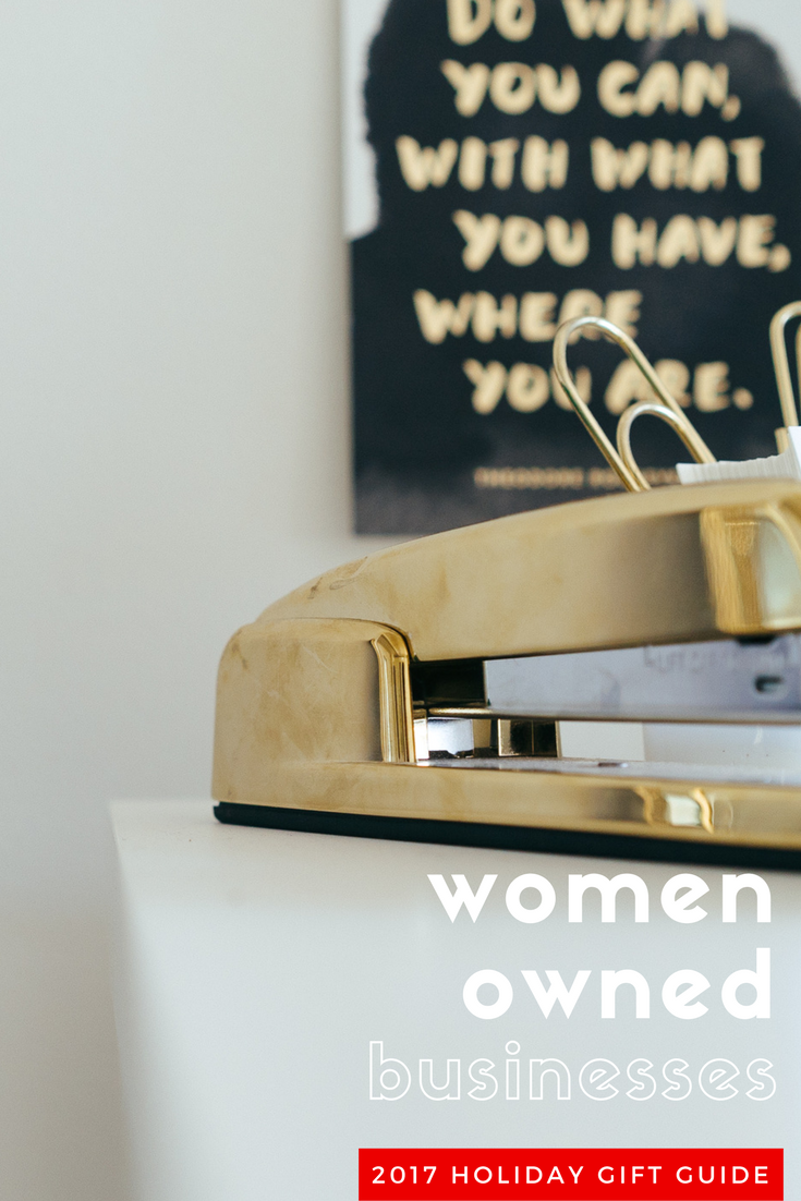 Women owned businesses holiday gift guide.